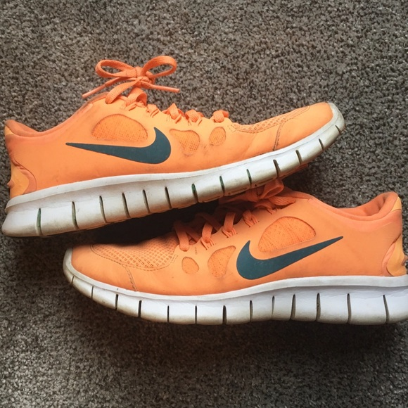 Nike Shoes | Orange Nike Free Run 5